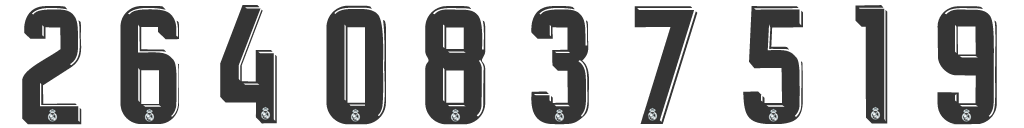 15c59 Rm G Kit Numbers Real Madrid 2017 2018